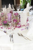 Beautiful floral table centrepiece — Stockfoto