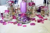 Intricate flower arrangement centerpiece — Stock Photo