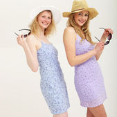 Happy women in summer clothes — Stock Photo