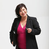Engaging friendly businesswoman — Stock Photo