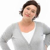 Mujer de mediana edad self-assured — Foto de Stock