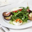 Stock fotografie: Serving of appetizing starters with salad