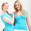 Stock Photo: Two young female friends