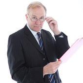Uomo d'affari con l'aspetto di valutare — Foto Stock