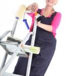 Female house painter — Stock Photo