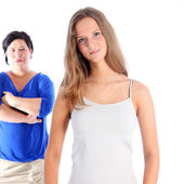 Mother and daughter in disagreement — Stock Photo