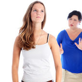 Mother arguing with her daughter — Stock Photo