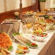 Cold buffet display — Stockfoto