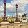 Royalty-Free Stock Photo: Lampposts on Pont Neuf. Paris, France.