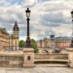 Paris cityscape. Pont Neuf. — Stock Photo