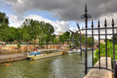 Seine River. Paris, France. — Stock Photo