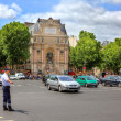 Street junction at Saint-Michel in Paris, France. — Stock Photo