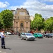 Street junction at Saint-Michel in Paris, France. — Stock Photo #11552227