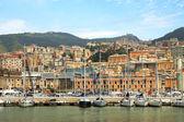 Harbor and city og Genoa, Italy. — Stock Photo