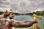 View on Paris from Alexander III Bridge. — Stock Photo