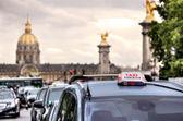 Parisian taxi sign. Paris, France. — Stock Photo