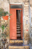 Entrance to old house. Ventimiglia, Italy. — Stock Photo