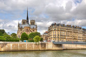 Notre Dame Cathedral. Paris, France. — Stock Photo
