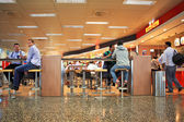 Bar at Malpensa airport in Milan, Italy. — Stock Photo