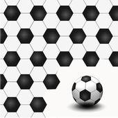 Un pallone da calcio come sfondo creativo — Foto Stock