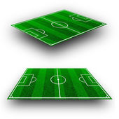 The green soccer field with lines, perspective geometry — Stock Photo