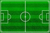 El campo de fútbol verde con líneas — Foto de Stock