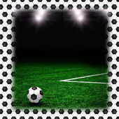 Soccer ball on the green field — Stock Photo