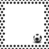 A soccer ball as creative background — Stock Photo
