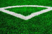 Strukturierte grüner fußballplatz — Stockfoto