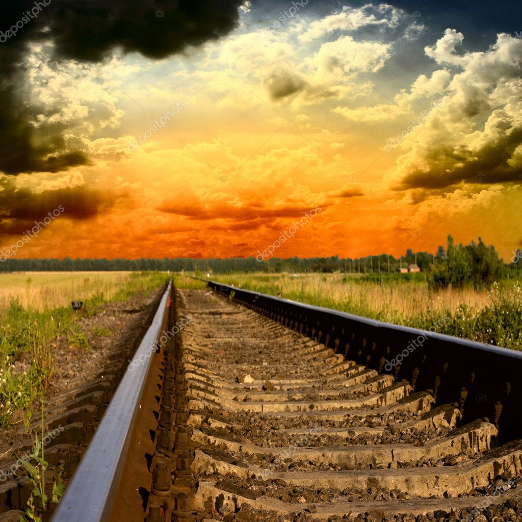 Railway into the sunset — Stock Photo #12052513