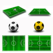 Collage. Soccer field tactic table, map on perspective geometry, — Stock Photo