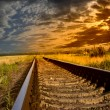 Railway into the sunset — Stock Photo #12306202