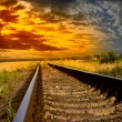 Railway into the sunset — Stock Photo #12306206