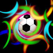 Ilustración diseño elegante fútbol digital conceptual — Foto de Stock