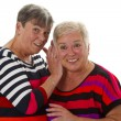 Two female senior — Stock Photo