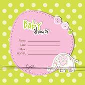 Tarjeta de bebé ducha con espacio de copia — Vector de stock