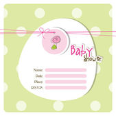 Baby shower card with copy space — Stock Vector