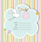 Baby shower card — Stockvektor