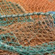 Stock Photo: Fishing nets in different colors
