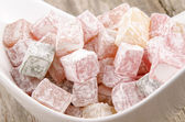 Home made turkish delight — Stock Photo