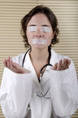 Medical Staff will not speak and not see — Stock Photo
