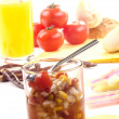 Stock Photo: Sweet corn and tomato relish