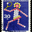 Vintage  postage stamp. Tennis Plaer. - Stock fotografie