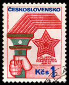 Vintage postage stamp. Torchlight and Star. — Stock Photo