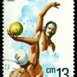 Vintage postage stamp. Water polo. — Stock Photo