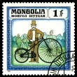 Vintage postage stamp.  Bicycle  1878. — Stock Photo
