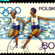 Vintage postage stamp. Women. Relay Race. — Stock Photo