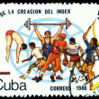 Vintage  postage stamp.  Sports. Cuba. - Stock Photo