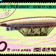 Vintage postage stamp.  Airship Fleurus. — Stock Photo
