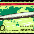 Vintage postage stamp. Zeppelin. Airship LZ-127. — Stock Photo